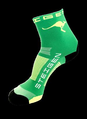 AUS-Running-Socks-Green-Half-Length