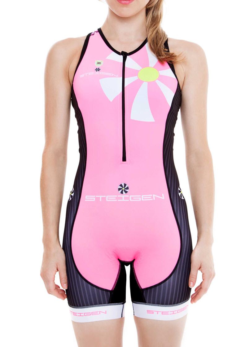 schneck tri suit 2 1 ladies fluro pink steigen athletic apparel