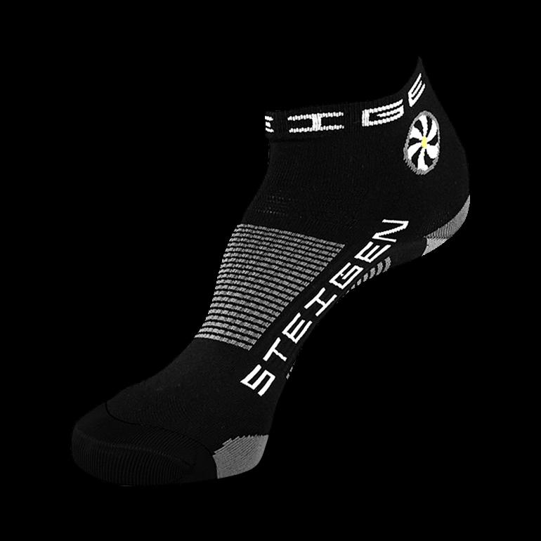 Black Running Socks ¼ Length