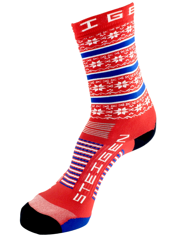 Christmas Running Socks 3/4 Length