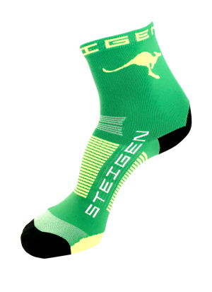 AUS-Running-Socks-Green-Half-Length