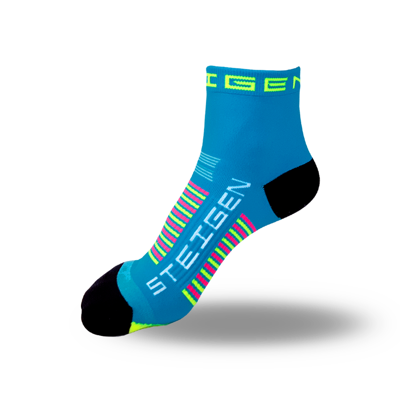 Kids Blue Running Socks ¼ Length