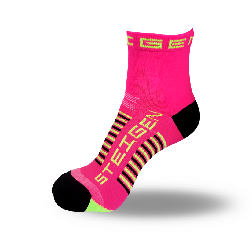 Kids Pink Running Socks ¼ Length