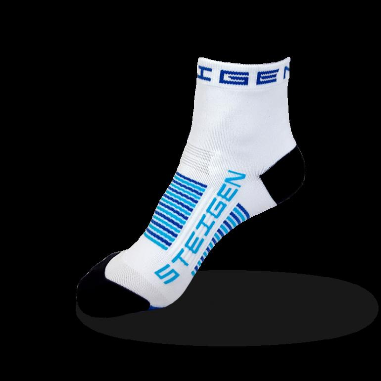 Kids White Running Socks ¼ Length