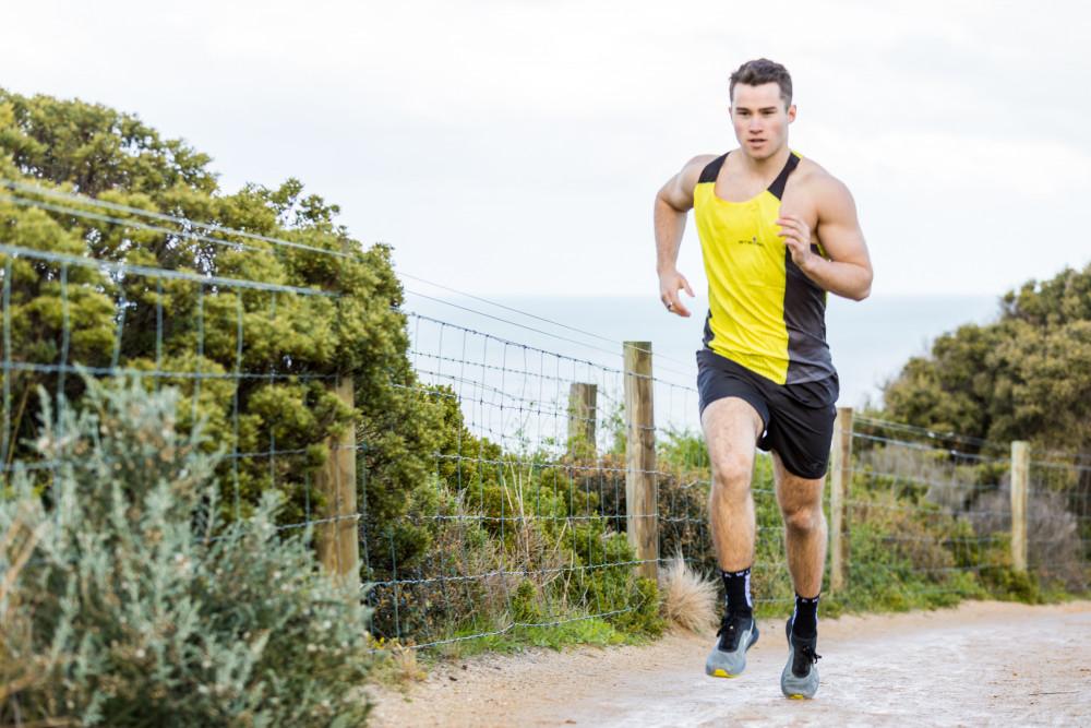 Steigen Men's K2PRO Singlet - Yellow (Race)
