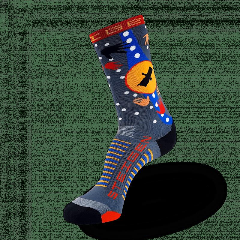 Bunjil the Creator Running Socks ¾ Length