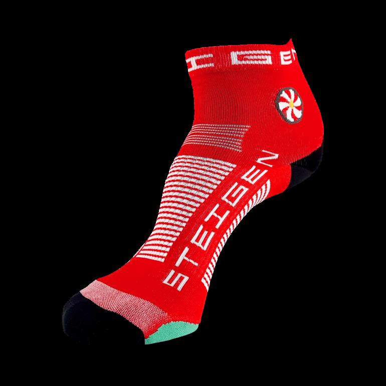 Cherry Red Running Socks ¼ Length