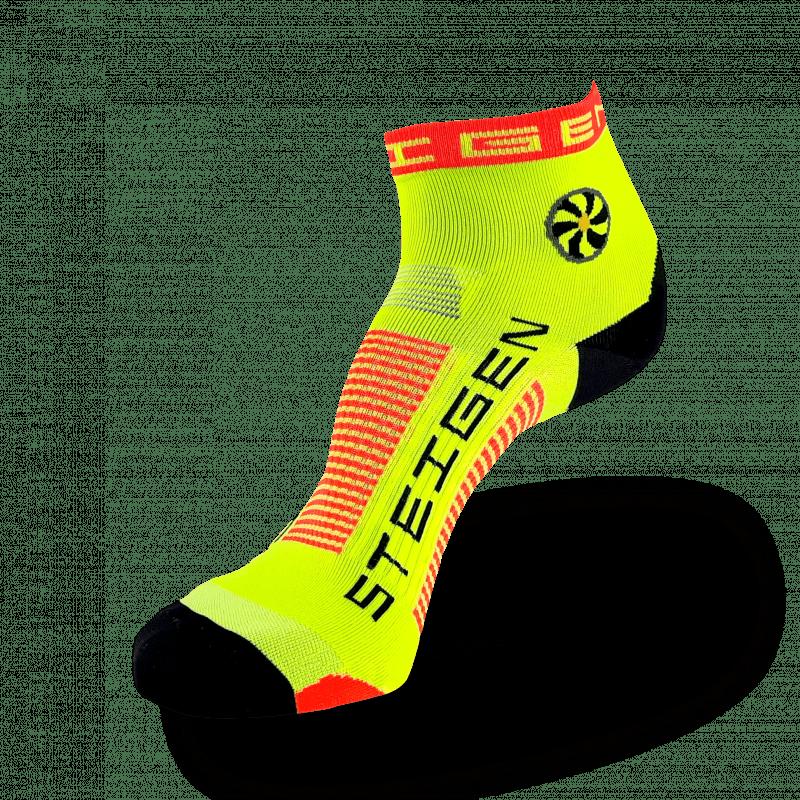 Fluro Yellow Running Socks ¼ Length