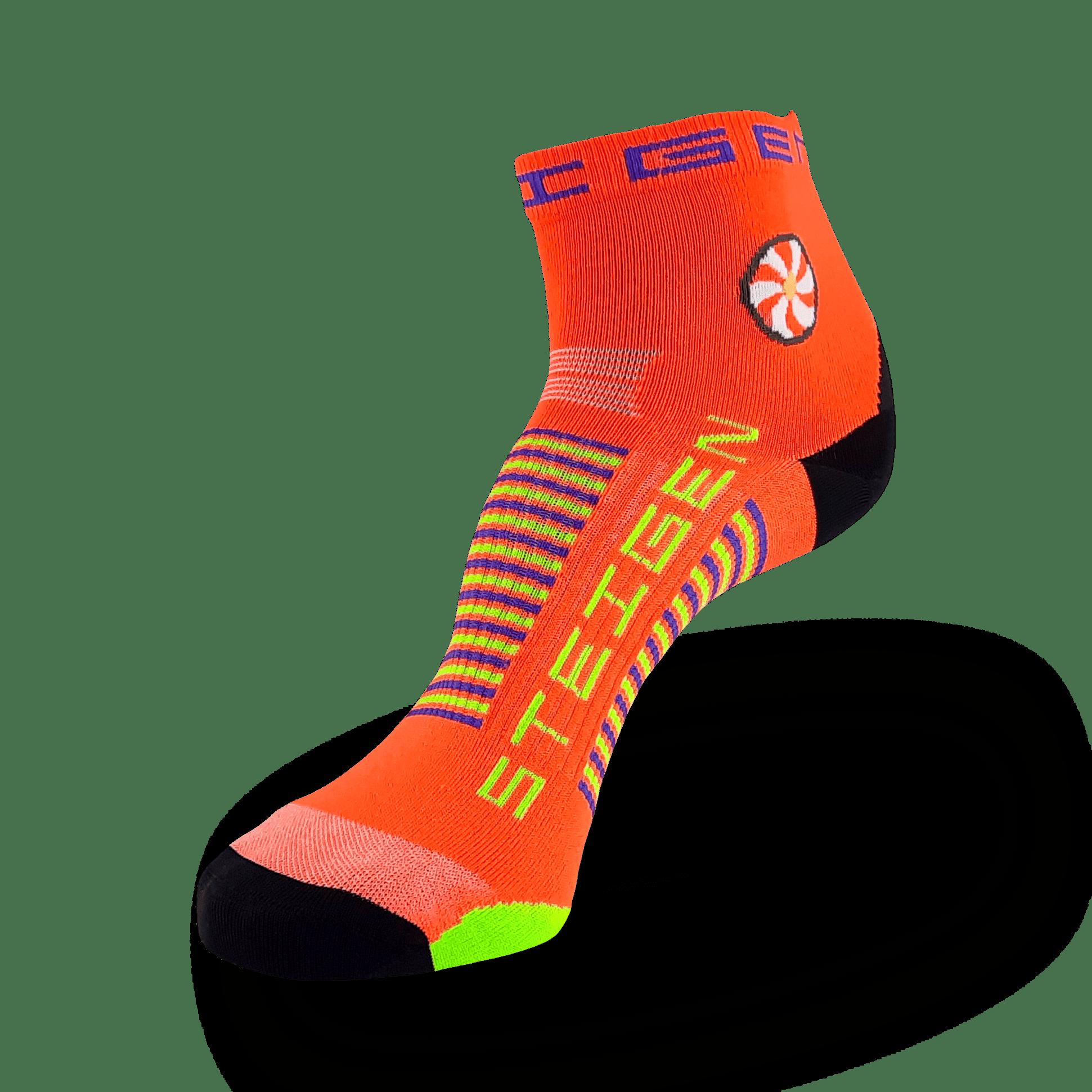 Goldfish Orange Running Socks ¼ Length