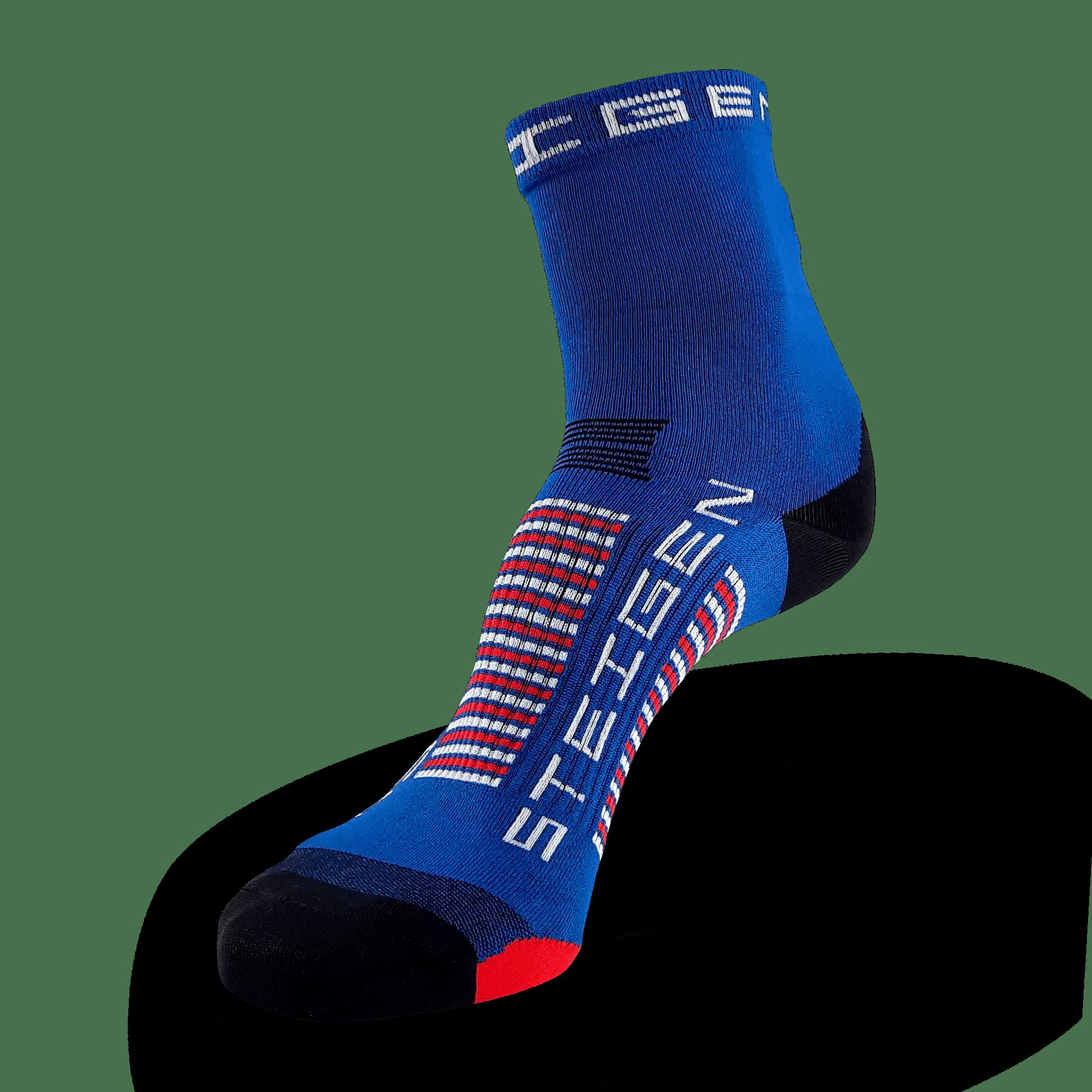 Midnight Blue Running Socks ½ Length