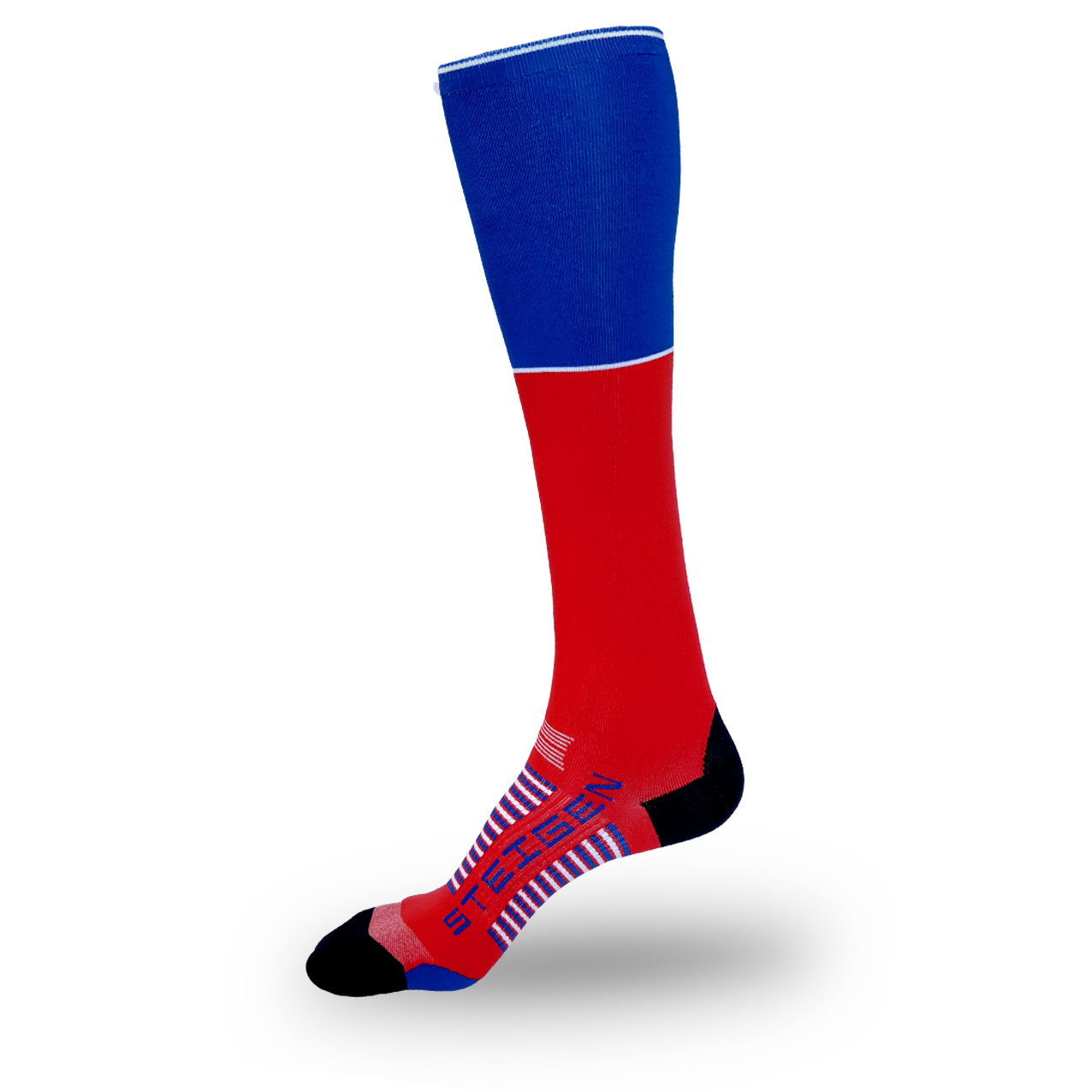 Red Running Socks Full Length