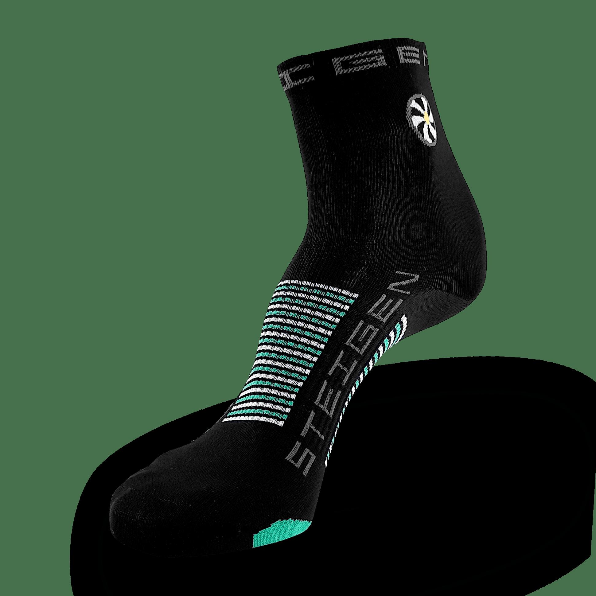 Black Running Socks ½ Length