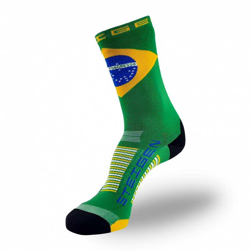 Brazil Running Socks ¾ Length