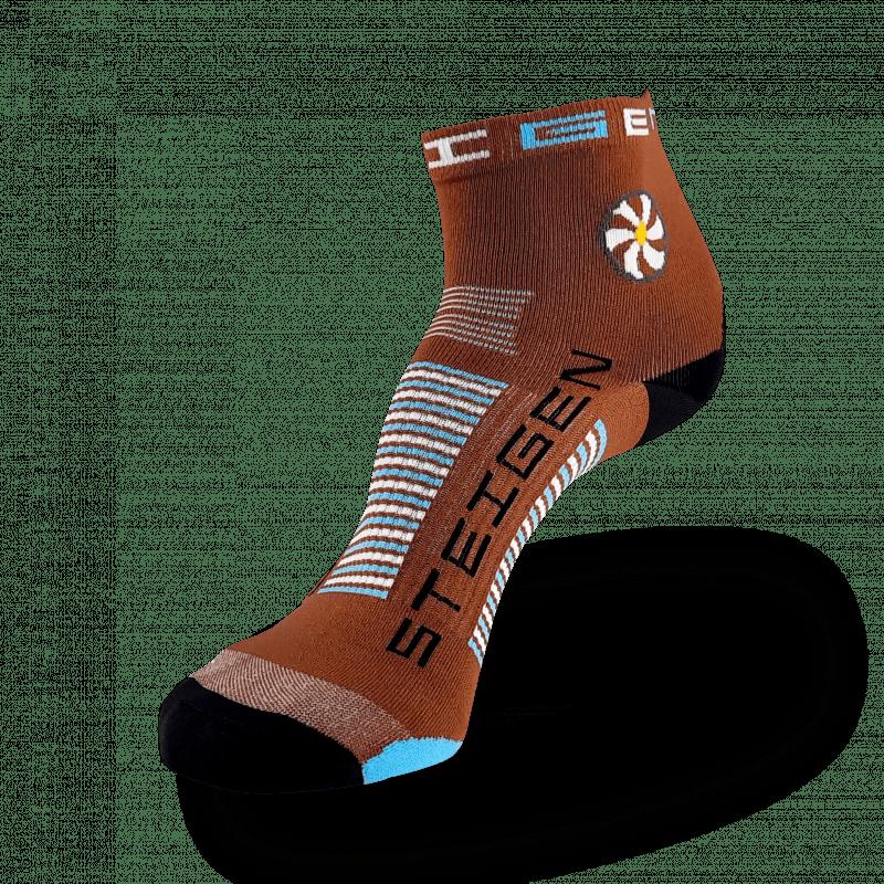Brown Running Socks ¼ Length