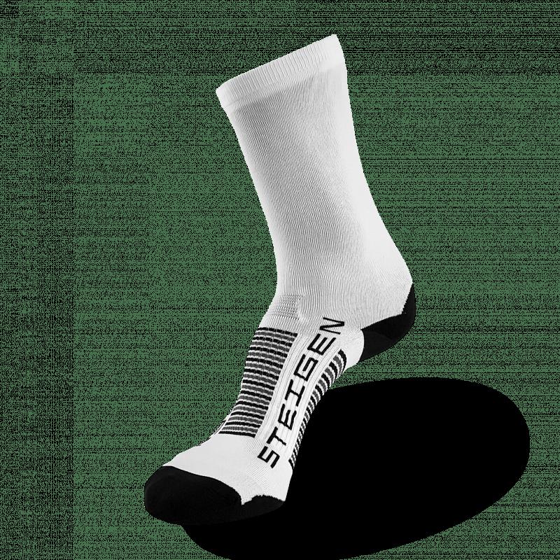 Plain White Running Socks ¾ Length