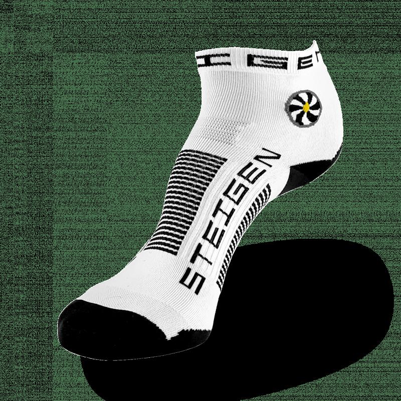 White Running Socks ¼ Length