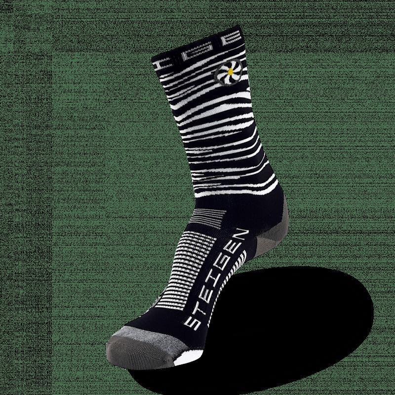 Zebra Running Socks ¾ Length