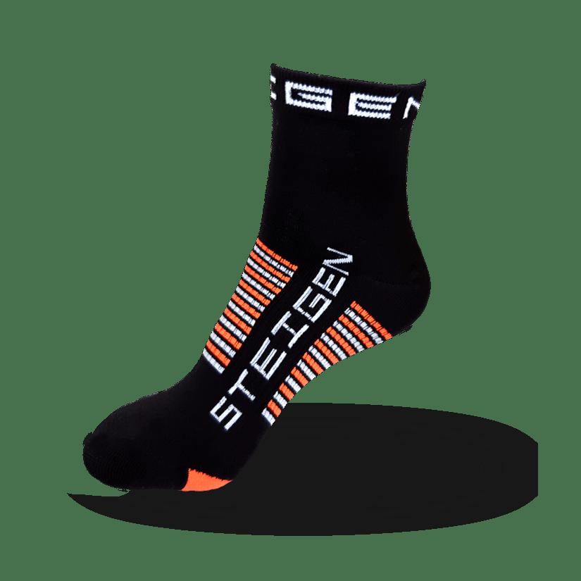 Kids Black Running Socks ¼ Length