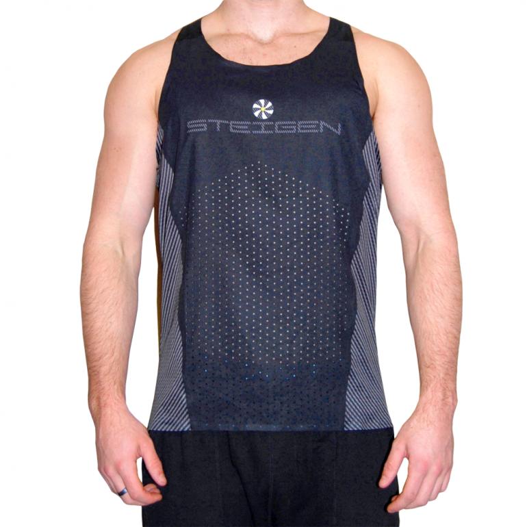 Steigen Men's K2PRO Singlet – Black