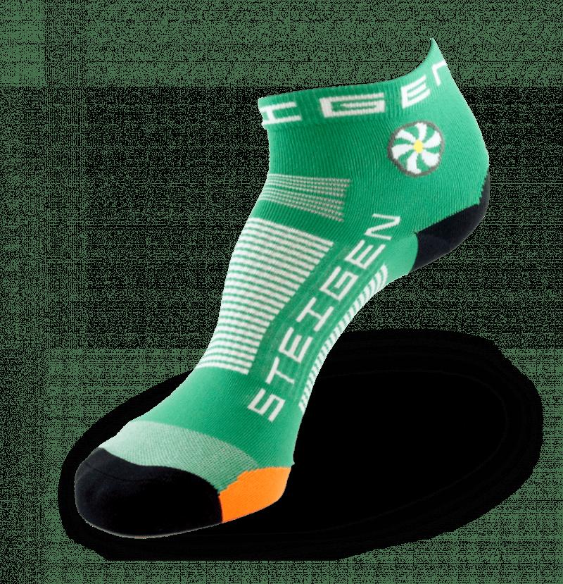 Irish Green Running Socks ¼ Length