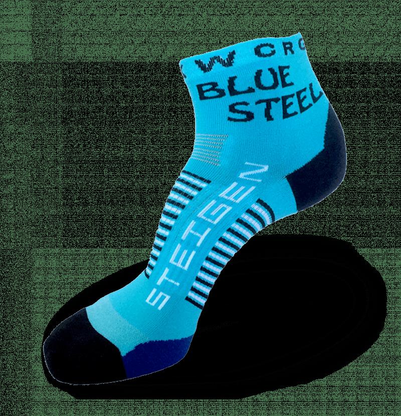 Blue Steel Running Socks ¼ Length