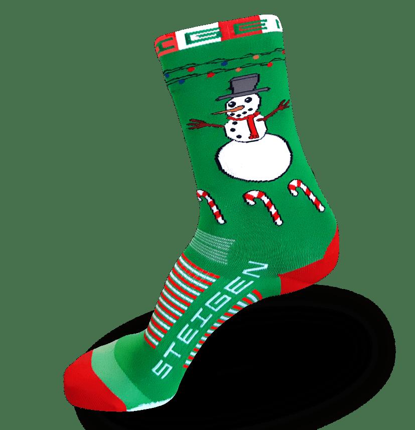 Snowman Running Socks ¾ Length
