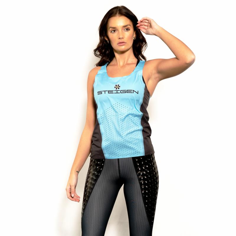 Steigen Women's K2pro Singlet – Blue